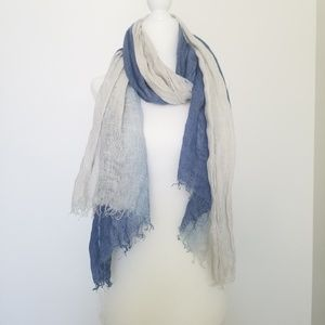 Accessories - ❣(3) for $25 Blue White Ombre Scarf Wrap